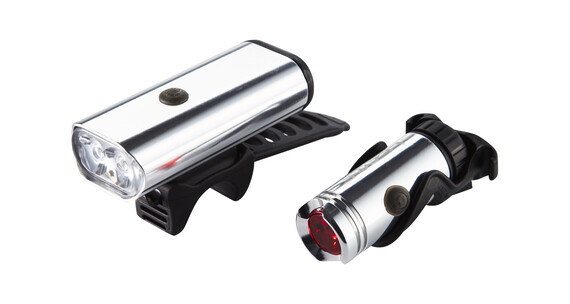 Lezyne Macro Drive 600 XL / LED Micro Drive  - Set luces a pilas - Plateado